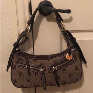 Dooney & Bourne Leather/Canvas Hobo Shoulder Bag